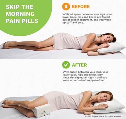 Ventajas almohada para piernas supportiback